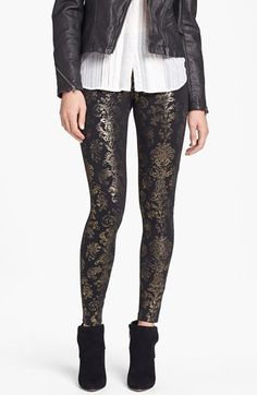 Hue Foil Brocade Leggings available at #Nordstrom