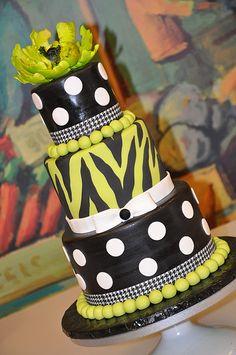 designed cakes, color, food, zebra, yellow cakes
