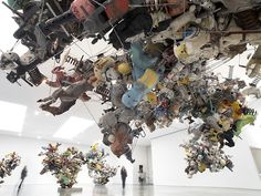 Nancy Rubins: Our Friend Fluid Metal  Massive Metal Blooms [[MORE]]Nancy Rubins' aluminum assemblages of playground rocking animals are bursting with life at Gagosian Galle...