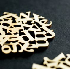 typography coasters...nerdy but awesome :)