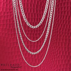 You're in charge—and in style—when you don these four cascading chains of #SterlingSilver! | #WomensFashion