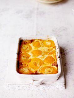 Jamie Oliver nan's peach clafoutis
