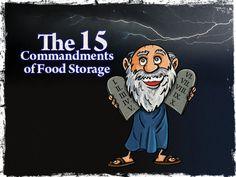 The 15 Commandments of Food Storage