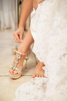 Cute bridal shoes