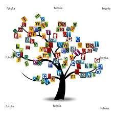 Cuando las letras crecen en los árboles, cual hojas...