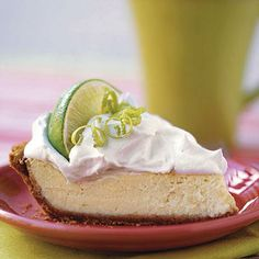 Key Lime Pie | This lightened version of key lime pie has less than 4 grams of fat per serving and is quick and easy because of the ready-made graham cracker crust and frozen whipped topping. | SouthernLiving.com