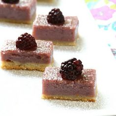 Blackberry Buttermilk Pie Bars