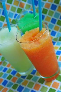 Kool Aid Slurpees- no way!! These are so easy to make and so good.  Your kids will have fun making them with you!