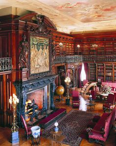 The library at Biltmore House