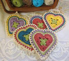 Crochet: Granny Sweet Heart Pattern.