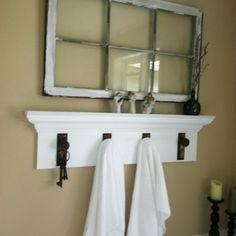 use door knobs-idea for basement bath