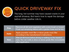 The long, hot summer may have caused cracks in your asphalt driveway, but here's how to repair the damage before colder weather rolls in.