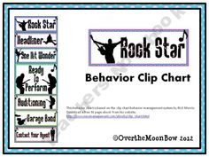 This fun, Rock Star themed behavior chart is based on the clip chart behavior management system by Rick Morris. classroom decor, roll theme, classroom aesthet, behavior charts, rockstar theme, rock theme, rock stars, behavior management, classroom organ