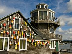 Buoys and weathered shingles weather shingl, ocean odyssey
