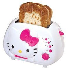 She would love this... little girls, hello kitti, stuff, kitti toaster, kitchen, hellokitti, hello kitty, thing, kid
