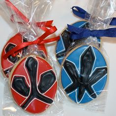 Power Ranger cookies - my son wold love these