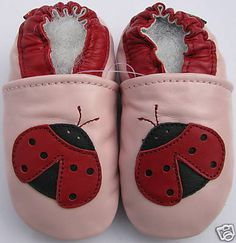 cute ladybug soft crib shoes 12-18mos