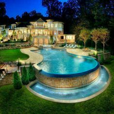 Luxury home--what an amazing pool!