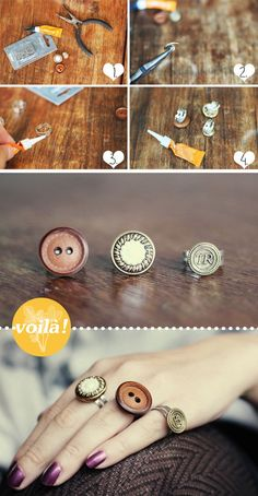 DIY Rings with Buttons