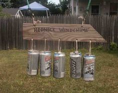Redneck Windchime... Making this for Brian's garage