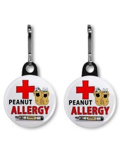 Amazon.com: PEANUT ALLERGY EPIPEN Medical Alert Pair of 1 inch Black Zipper Pull Charms: Everything Else