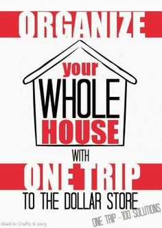 Organize Your Whole House with One Trip to the Dollar Store dollar storehmmm, houses, organ, trip, diy projects