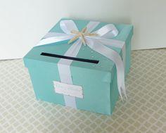 Wedding Card Box Ivory Sage Green Beach Theme by LittleDivine