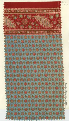 Border print on cotton. Schwabe and Son. January 13, 1885.