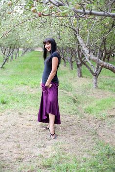 plum maxi jersey knit skirt by LittleMookie on Etsy, $30.00