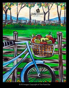 orchards, bike rides, paints, paintings