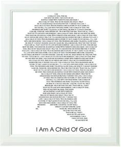 Inspirational lds Primary Song Black and White Typography Art Print ...