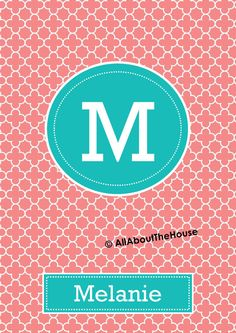 Printable Binder Cover and Spine-Desktop Background-Quatrefoil-Personalised -Monogram Binder Cover-Monogram Stationery-Preppy-Back to School Available from: https://www.etsy.com/au/listing/129151460/printable-binder-cover-and-spine-desktop