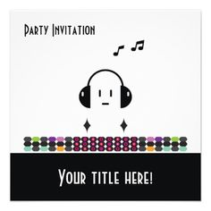 DJ - Party Invitation
