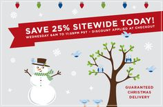 save 25% on all wall decals today only 12.12.12