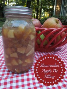 Apple Pie filling made in the Slowcooker. Perfect for pies and apple breakfast rolls