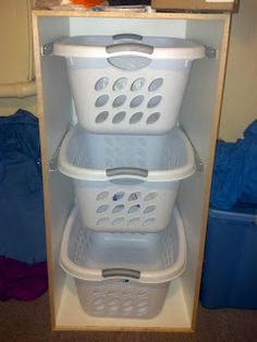 I already have these exact laundry baskets. Good project to free up floor space in the laundry room.