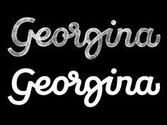 Georgina logotype — Last sketch vs final artwork.