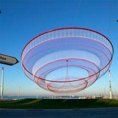 janet echleman [fiber sculpture, textile sculpture, textile art, public textile art: link to website with portfolio, film links + other information & images]