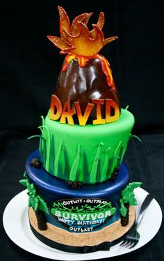 I love this Survivor-themed Birthday cake which I found over