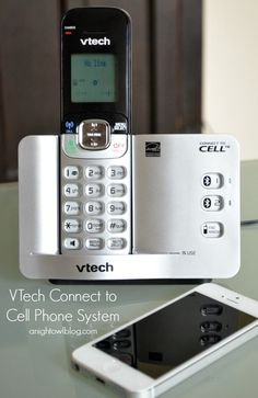 @VTech Phones Connect-To-Cell Phone System - Make and receive landline and cell calls, eliminate cell phone dead spots, download and store your cell directory! | #technology #phones #vtech