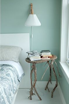 Bedroom, Small Modern Cottage Scandinavian Style Book Table