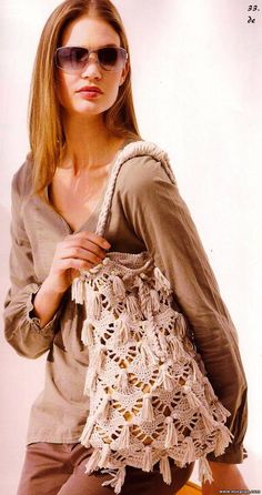 Pretty beige bag with diagrams