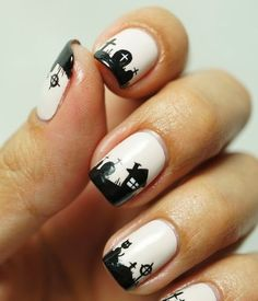 Easy Black and White Nail Designs