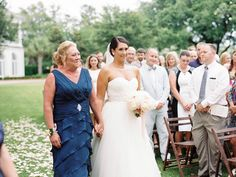 Blue and White Wedding Ideas - Mother of the Bride Dress | Nancy Ray Photography