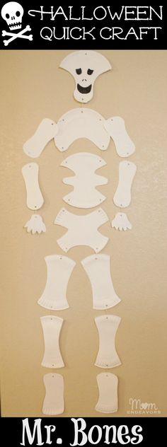 Paper Plate Skeleton Halloween Craft