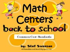 8 Math Centers and more! This was created with kindergarten in mind, but would be great for high achieving preschoolers and/or a great resource as a beginning of the year review in 1st grade!#Repin By:Pinterest++ for iPad#