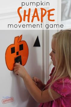 Pumpkin Shape Movement Game for Kids! #Halloween #prek (repinned by Super Simple Songs)