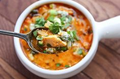 Love buffalo wings? Then you'll love this cheesy, spicy, buffalo chicken soup with orzo.
