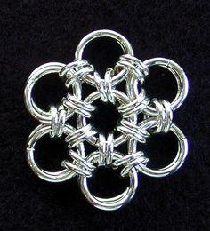 Chain Maille Japanese Flower Tutorial
