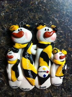 Pittsburgh Steelers Family Christmas Ornament on Etsy, $15.00